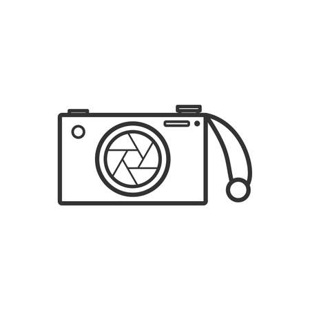 Camera with Strap vector icon,Flat design element.