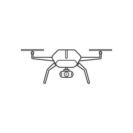 Drone with a camera icon,Flat design.