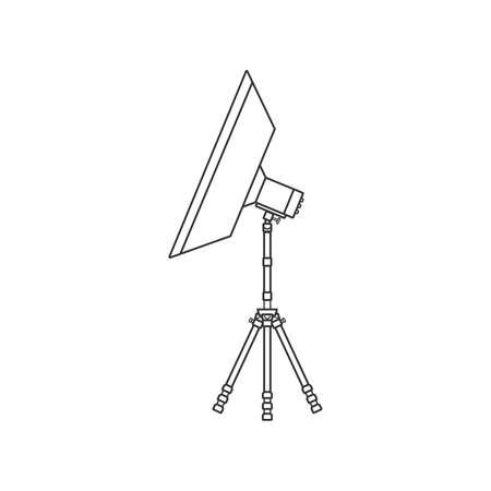 Studio lighting icon,Flat design.