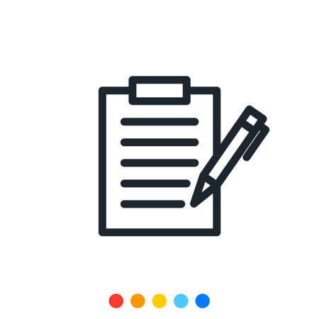 Simple document icon,Vector and Illustration.