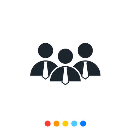 Simple people icon,Icon of grouping of people.