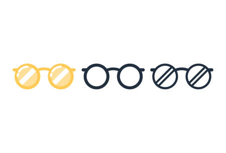 Cute glasses icon,Vector and Illustration.