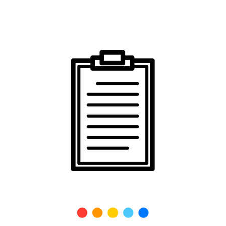 Simple clipboard icon,Vector and Illustration.