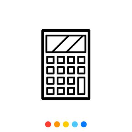 Portable calculator icon,Vector and Illustration.