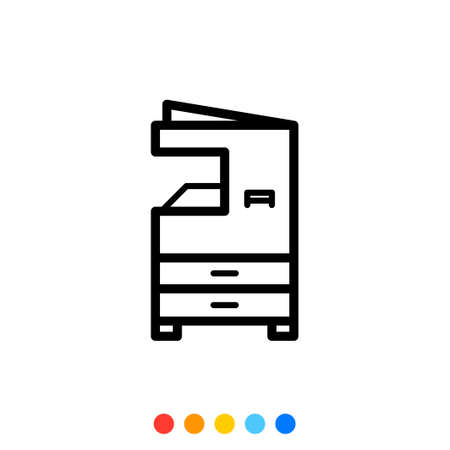 Multifunction printer icon,Vector and Illustration. Ilustrace