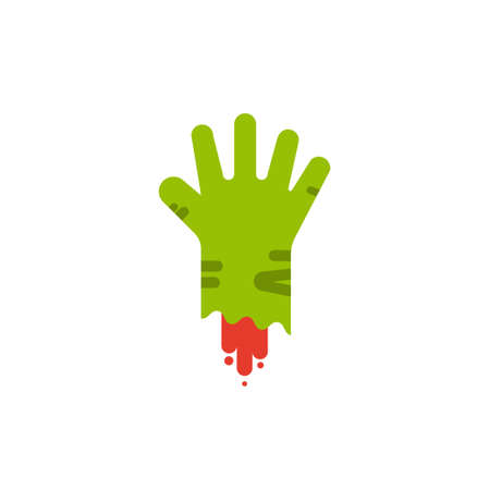 Zombie hand flat design elements,Icon,Vector,Illustration. Illustration