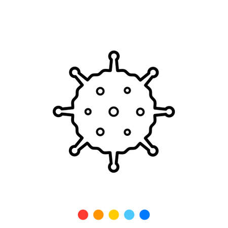 Virus flat design element,Icon,Vector and Illustration.