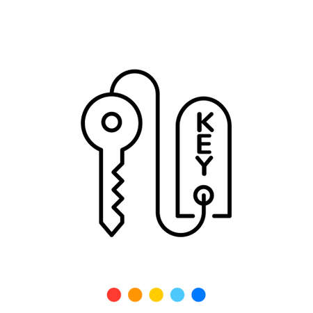 Key and Key tag icon,Vector and Illustration.