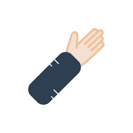 Arm splint icon and Illustration. Ilustração