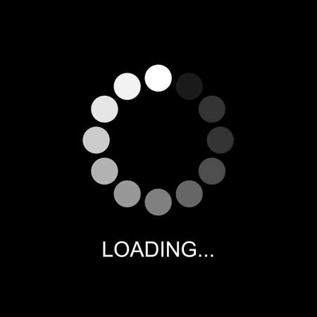 A symbol of progress loading bar or Buffering of Download or Upload, Loading icon, Vector and Illustration. Çizim