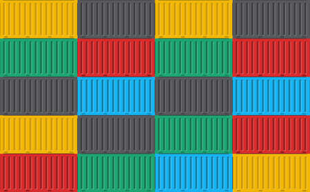 Stack of cargo container pattern background. Vecteurs