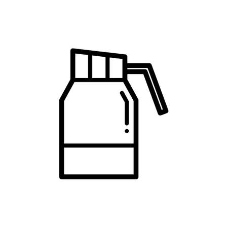flask kettle thin line icon