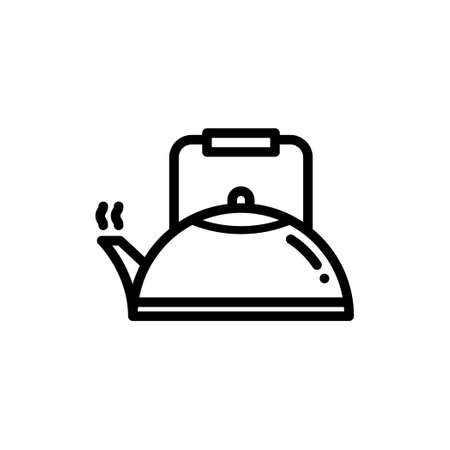 Kettle or teapot thin line icon