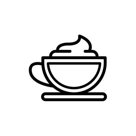 Vector icon of Coffee mocha or cappuccino