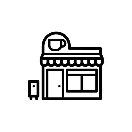 Vector icon of Coffee shop or Cafe