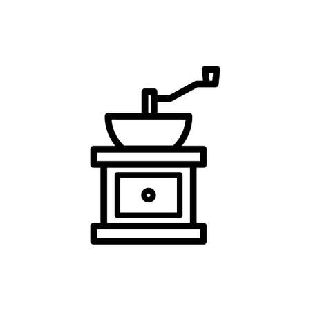 Coffee grinder vector thin line icon