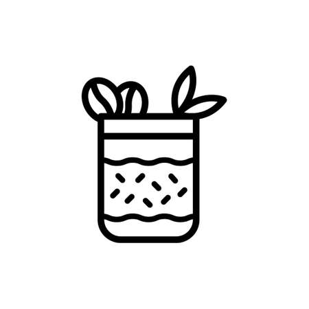 Coffee flavour ice cream mug icon