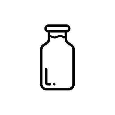 Milk bottle thin line icon