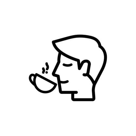 Icon of A Person who is drinking coffee or tea from a cup