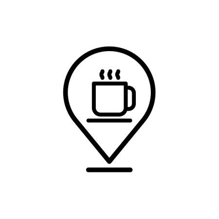 Coffee shop location pin icon