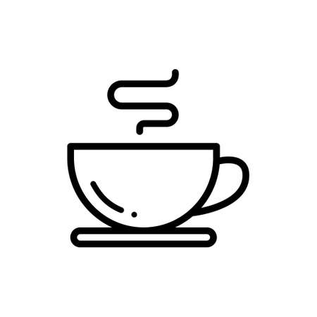 Coffee cup vector thin line icon
