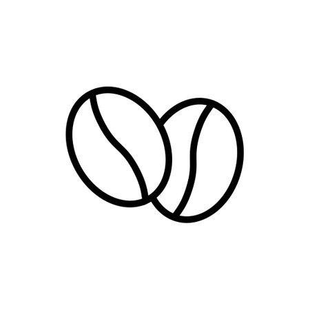 Coffee bean vector thin line icon