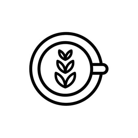 Coffee cup icon from top view