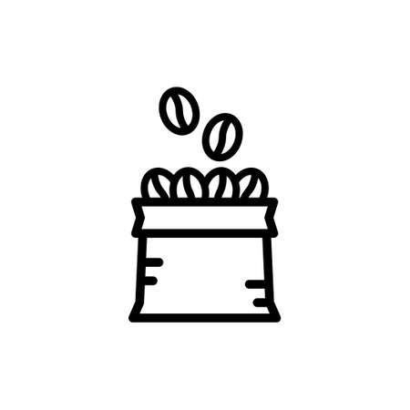 Icon Vector of Coffee bean in a bag