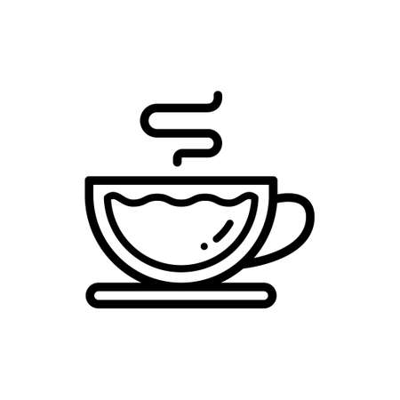 Icon of a cup of Coffee or a cup of Tea Illustration