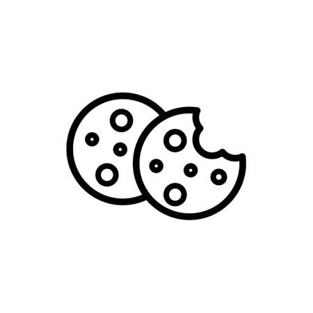 Simple cookies vector line style icon