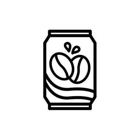 Canned coffee vector thin line icon