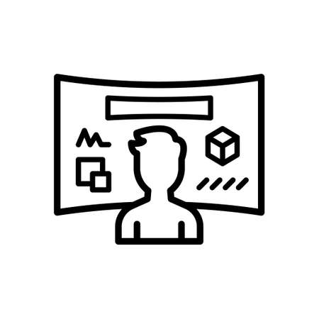 Virtual Reality Screen outline icon, Vector and Illustration. Illustration