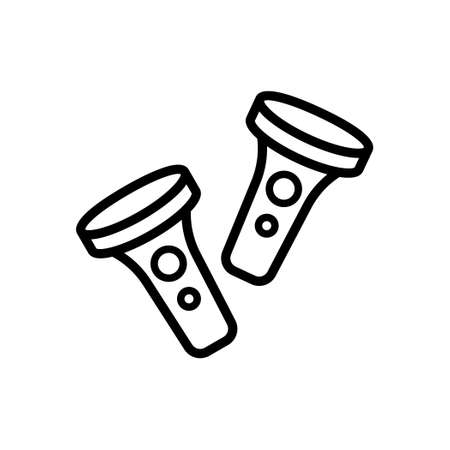 VR Controller outline icon, Vector and Illustration. Illustration