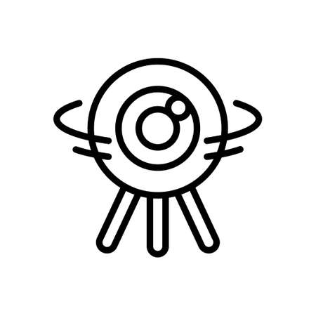 Wireless camera outline icon, Vector and Illustration. Illustration