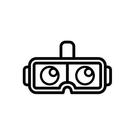 VR Glasses outline icon, Vector and Illustration.