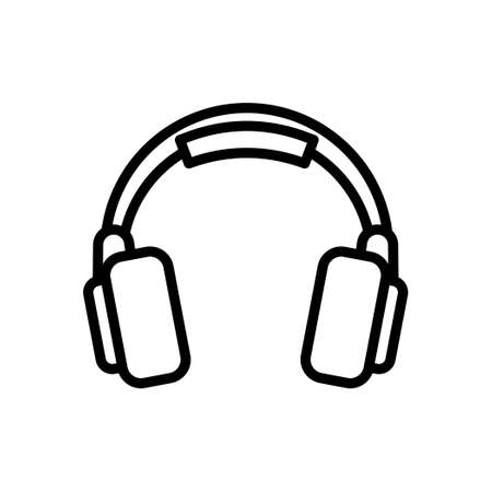 Wireless headphone outline icon, Vector and Illustration.