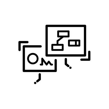 Virtual Reality Screen outline icon, Hologram icon, Vector and Illustration. Illustration