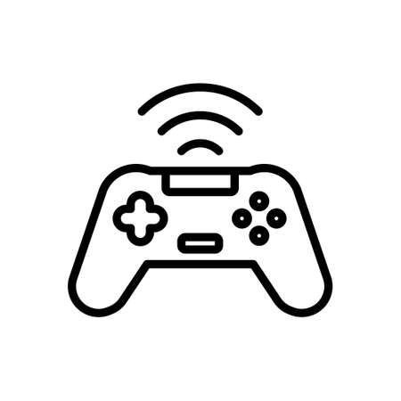 Wireless game controller icon,Vector and Illustration.