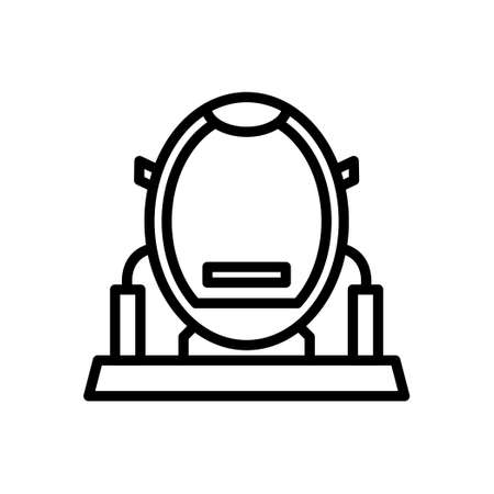 VR Machine outline icon, Virtual Reality Simulator icon.