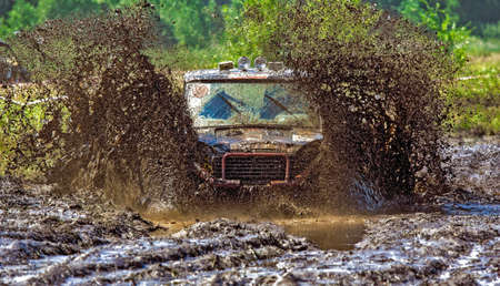 Race on specially prepared car cross country  Off-road competitions  photo