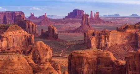 mesa: View from Hunts Mesa, Monument Valley, Arizona