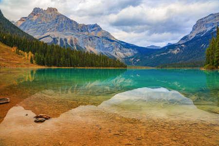 Emerald lake in Yoho National Park, British Columbia, Canada