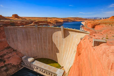 glen: A Glen Canyon dam at Lake Powell, Arizona. USA Stock Photo