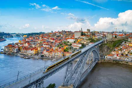 douro: Porto, Portugal cityscape across the Douro River. Stock Photo