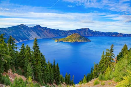 Crater Lake National Park in autumn, Oregon, USA