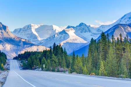 icefield: Road in Canadian Rockky mountains, Icefield Parkway