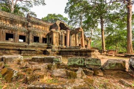 gateway: Eastern gateway to Angkor wat, Siem Reap, Cambodia Stock Photo