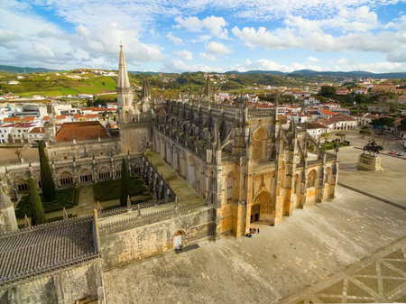 Aerial view of The Monastery of Batalha - originally, and officially known, as the Monastery of Saint Mary of the Victory, Portugal