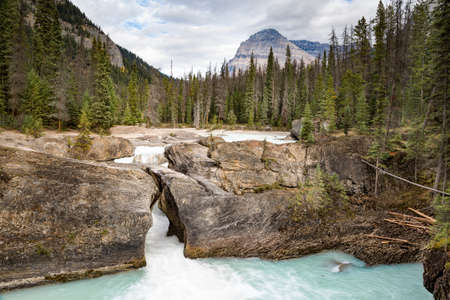 currents: Natural Bridge, rock formation in Yoho National Park, BC, Canada