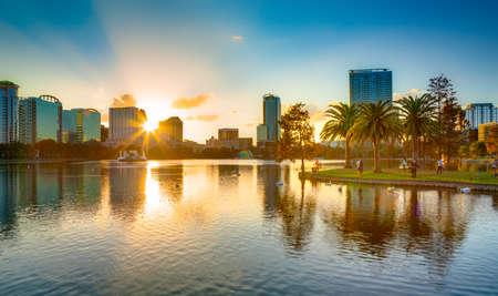 Puesta del sol en Orlando